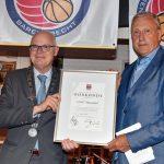 Waarderingsoorkonde voor basketball club CBV Binnenland