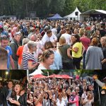 Feestje bij Picknick in 't Park tijdens optredens van oa de Wannebiezz en Zanger Andy