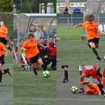 Oefenwedstrijd op de Bongerd door het damesteam Excelsior-Barendrecht