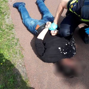 18-jarige winkeldief na korte achtervolging aangehouden op de Dierensteinweg