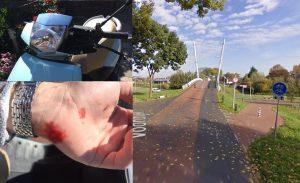 18-jarige vrouw gewond door uitwijkmanoeuvre op de Voordijk: Man op scooter doorgereden