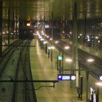 Station Barendrecht in het donker