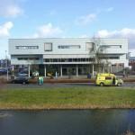 Aanrijding tussen ambulance en personenauto op de Hamburg in Barendrecht