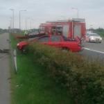 Auto ramt lantaarnpaal langs de Kilweg in Barendrecht