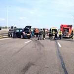 Zwaargewonde bij ongeluk op de A15 thv Barendrecht