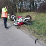 Motorongeval in bocht oprit A29 vanaf Kilweg, Barendrecht