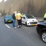 Grote drukte bij oprit A29 vanaf Kilweg: Ongeluk op A29 en olie op A15