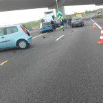 Verbindingsweg van A15 naar A29 afgesloten na ongeval met meerdere voertuigen