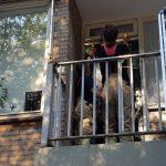 'Inbrekers' aan het werk op balkon van woning aan de Vlietweg