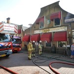 Brand in droger bij restaurant Diggels in de Dorpsstraat, Barendrecht