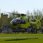 Traumahelikopter naar ongeval in woning Spinetstraat in Barendrecht