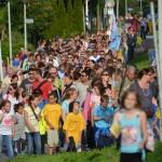 Zonnige eerste dag avondvierdaagse Barendrecht 2014