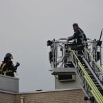 Brandje door kortsluiting in lift aan de Klarinetweg in Barendrecht