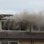Plafondbrand in woning aan de Klipper in Barendrecht (Middelbrand)