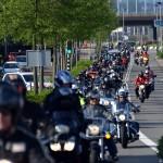 Aankomst Hemelvaart Motorrit Barendrecht 2013 (2e Barendrechtseweg)
