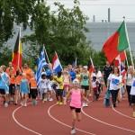 Sportief Olympisch Dorp Barendrecht 2015 op sportpark de Bongerd in Barendrecht