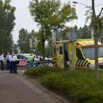 Fietser gewond bij aanrijding met auto aan de Dierensteinweg/Donk in Barendrecht