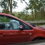 Kettingsbotsing aan de Dierensteinweg in Barendrecht