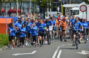 Roparun doorkomst in Barendrecht 2014