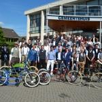 Ruim 60 heren fietsen mee tijdens Gentlemen's Ride in Barendrecht 2015