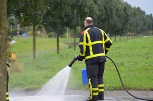 Oliespoor op de Ziedewijdsebaan in Barendrecht