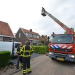 Warmtebron in schoorsteen van woning aan de Talmaweg in Barendrecht