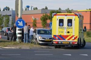 Ongeval met auto op oprit A29 vanaf Kilweg, Barendrecht