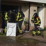 Wasmachine vat vlam in garage aan de Cornelis de Mooystraat Barendrecht