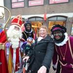 Sinterklaas met pieten en pietenband over de Middenbaan Barendrecht 2013