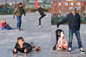 Foto's: Barendrecht beleeft eerste schaatsdag van 2017