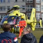 Traumahelikopter voor noodsituatie naar het Middeldijkerplein in Barendrecht