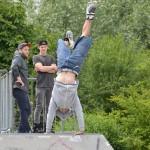 Skaters, BMXers en steppers bij Skatejam in skatepark Henry Dunantlaan in Barendrecht