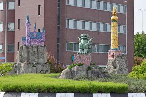 Kunstwerken Eftelingrotonde (1e Barendrechtseweg, Barendrecht)