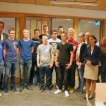 Wethouder Gebben geeft gastles aan tto-leerlingen Calvijn Groene Hart, Barendrecht