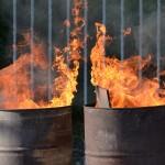 Brandweer blust zelf aangestoken brandje op de Bongerd (Dierensteinweg) in Barendrecht