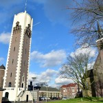 Watertoren en Dorpskerk in Oude Dorpskern Barendrecht