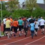 Hardlopen ouders, leraren en begeleiders, Scholenkampioenschappen 2013 in Barendrecht