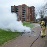 Brandje tijdens Oud & Nieuw 2013-2014 Barendrecht