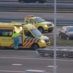 Auto ongeluk op de A15 bij het Vaanplein in Barendrecht