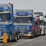 Startschot en eerste deel van de route, Truckrun Barendrecht 2014