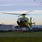 Traumahelikopter naar bedrijfsongeval aan de Koopliedenweg in Barendrecht