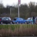 Kop-staart aanrijding met drie auto's op de Kilweg in Barendrecht