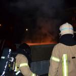 Containers in brand op schoolpleinen Draaimolen en Groen van Prinsterer in Barendrecht