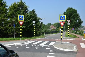 Kruispunt fietspad Middeldijk krijgt hogere drempels