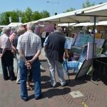 Kunstmarkt op het gemeentehuisplein Barendrecht