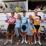 Finish en prijsuitreiking Elite-Mannen/Beloften, Wielerronde van Barendrecht 2014