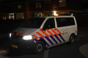Politieauto, avond, Barendrecht