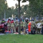 Zwaar ongeval Henry Dunantlaan: Auto's botsen frontaal op elkaar