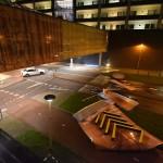 Beplating bij parkeergarage Carnisse Veste stort op Portlandse Baan, Barendrecht
