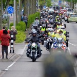 Hemelvaart motorrit: 200 deelnemers op 160 motoren terug in Barendrecht